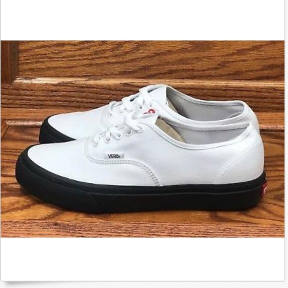 160becf2f8 Vans Authentic Black Outsole True White Men Shoes NWT
